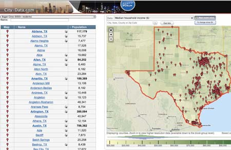CityDatacom Stats About All US Cities Real Estate - Us city map