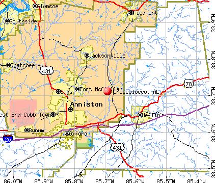 Choccolocco, AL map