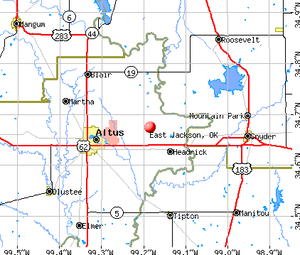 East Jackson, OK map