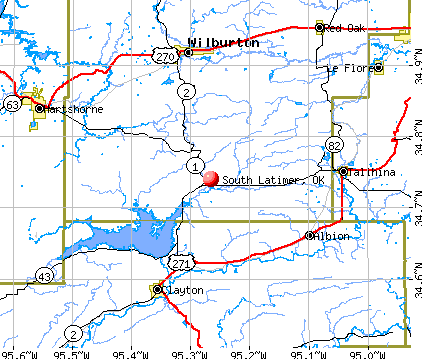 South Latimer, OK map