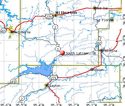 South Latimer, OK map