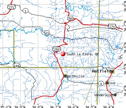 South Le Flore, OK map