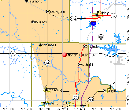 North Logan, OK map