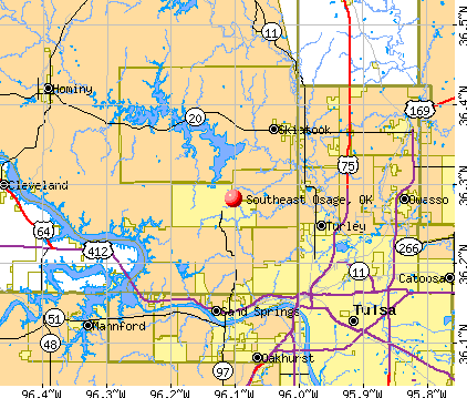 Southeast Osage, OK map