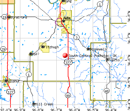 South Central Pontotoc, OK map