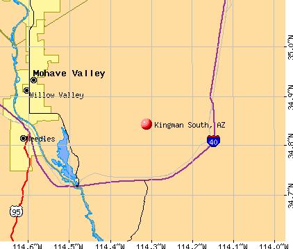 Map Of Arizona Kingman.Kingman South Arizona Az Profile Population Maps Real Estate