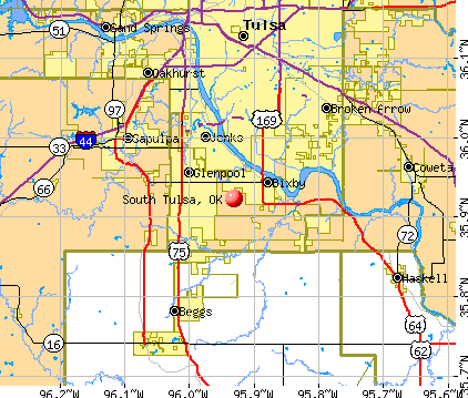 South Tulsa, OK map