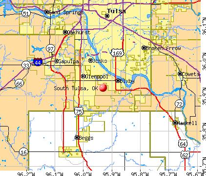 South Tulsa, OK map
