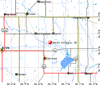 North Alfalfa, OK map