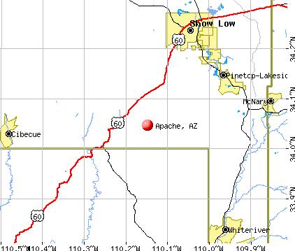 Apache, AZ map