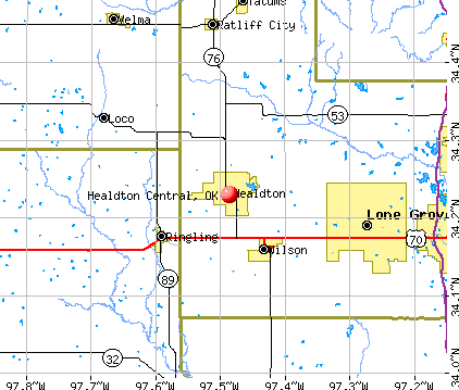 Healdton Central, Oklahoma (OK) profile: population, maps ...