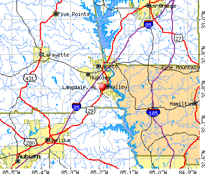 Langdale, AL map