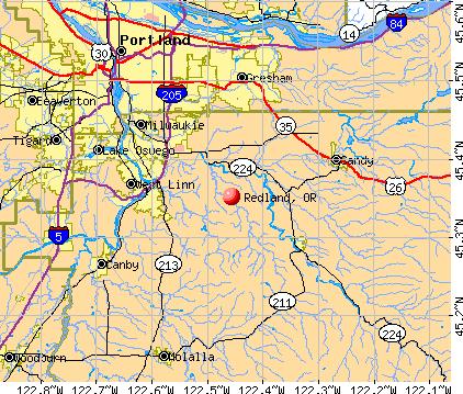 Redland, OR map