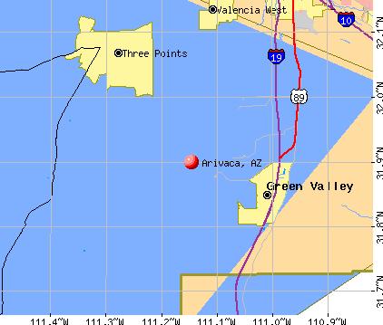 Arivaca, AZ map
