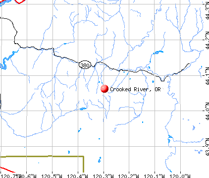 Crooked River, OR map