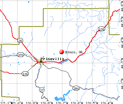 Ochoco, OR map