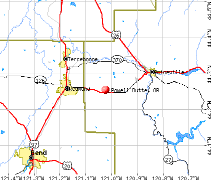 Powell Butte, OR map