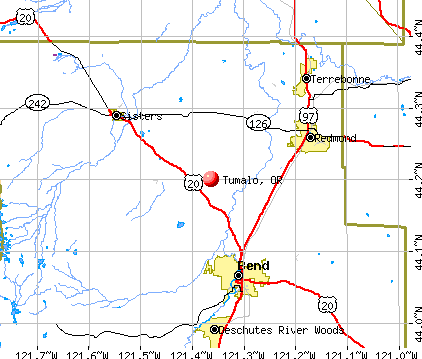 Tumalo, OR map
