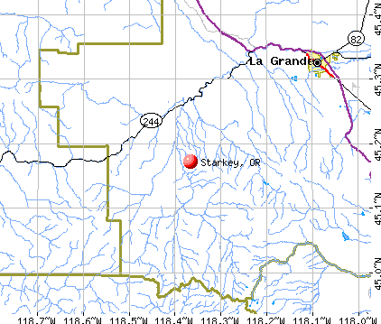 Starkey, OR map