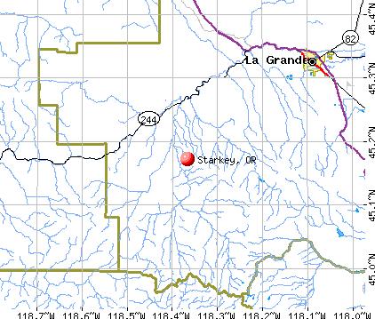 Starkey, OR map