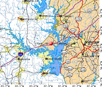 Fork, SC map