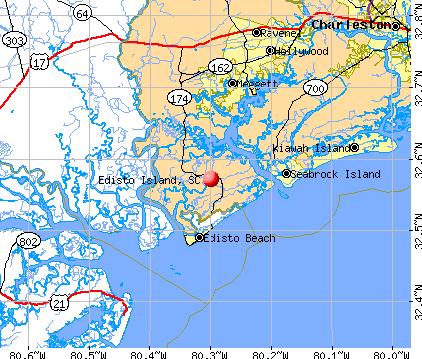 Edisto Island, SC map