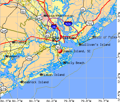 James Island, SC map