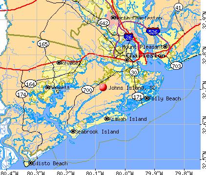 Johns Island, SC map
