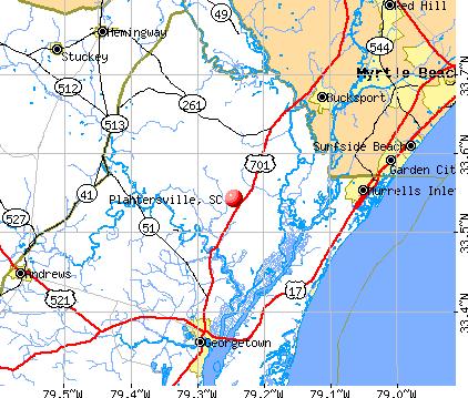 Plantersville, SC map