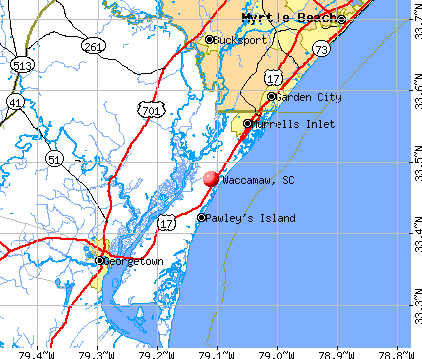 Waccamaw, SC map