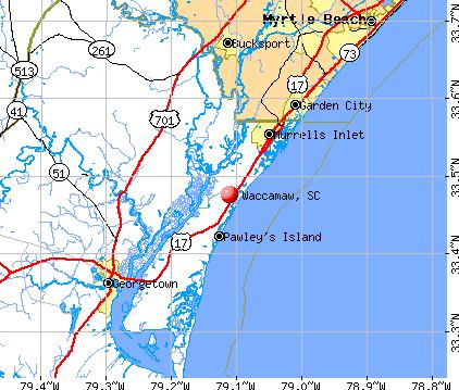 Waccamaw, SC map