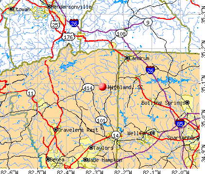 Highland, SC map