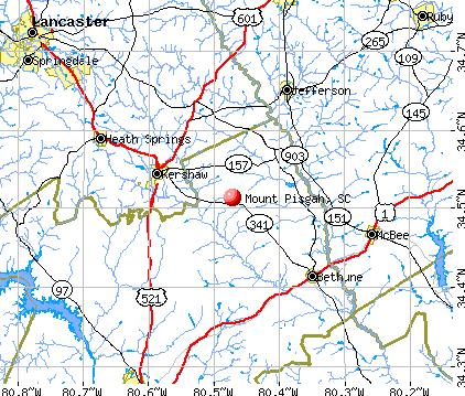Mount Pisgah, SC map