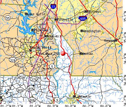 Van Wyck, SC map