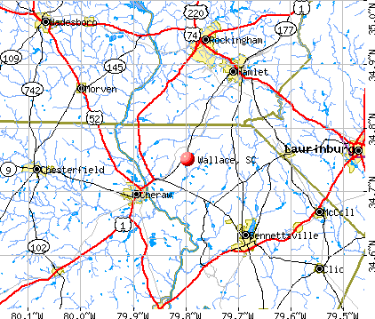 Wallace, SC map