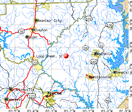 Long Creek, SC map