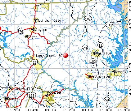 Long Creek, SC map