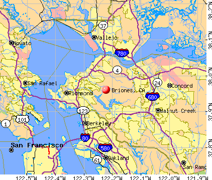 Briones, CA map
