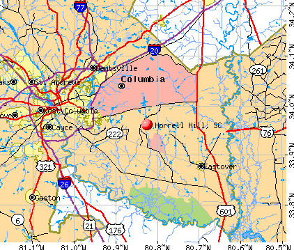Horrell Hill, SC map