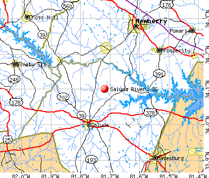 Saluda River, SC map