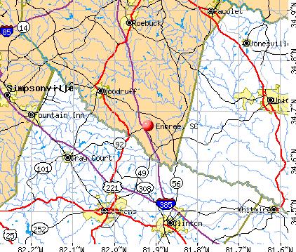 Enoree, SC map