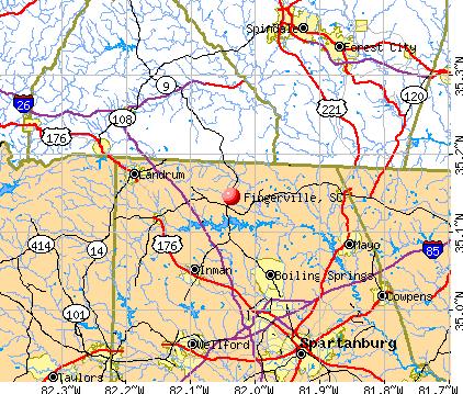 Fingerville, SC map