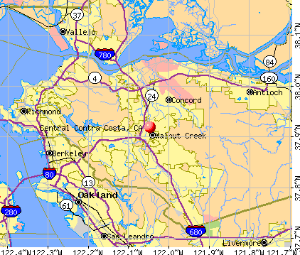 Central Contra Costa, CA map