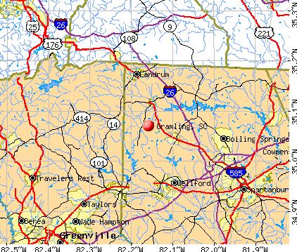 Gramling, SC map