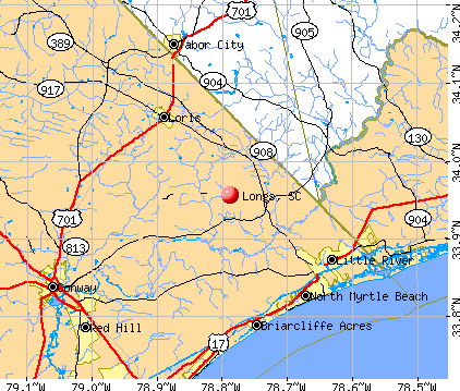 Longs, SC map