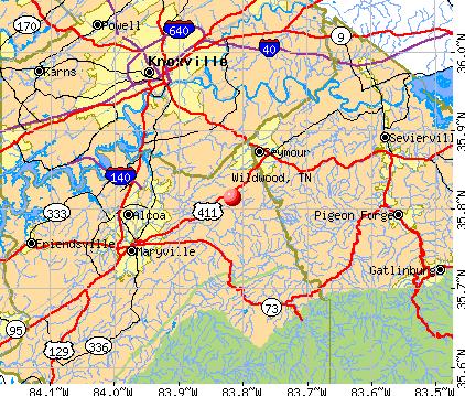 Wildwood, TN map