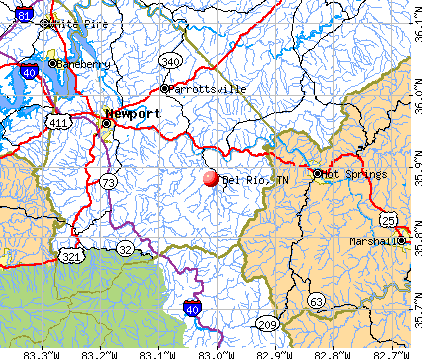 Del Rio, TN map