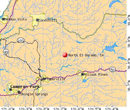 North El Dorado, CA map