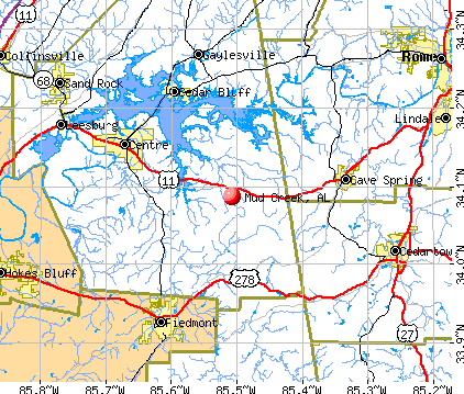 Mud Creek, AL map