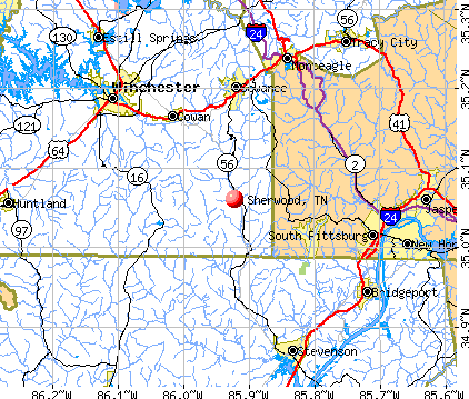 Sherwood, TN map